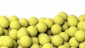 Waterpolo balls on white background Royalty Free Stock Photos