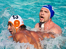 Waterpolo fight Stock Photo