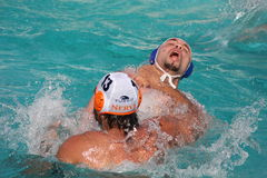 Waterpolo fighting Royalty Free Stock Image
