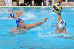 Waterpolo game. KAPOSVAR, HUNGARY - SEPTEMBER 19: Unidentified players in action at a Hungarian Cup water-polo game (Kaposvar vs Vasas), September 19, 2008 in Stock Photo