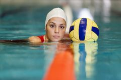 Waterpolo girl Stock Photos