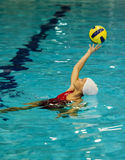 Waterpolo girl Royalty Free Stock Photography