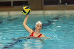 Waterpolo girl Stock Photography
