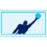 Waterpolo. Goalkeeper Royalty Free Stock Photos