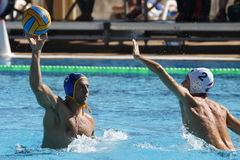 Waterpolo konkurrens CN Mataro VS Barceloneta Mataro Royaltyfri Bild