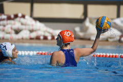 Waterpolo konkurrens CN Mataro VS Zaragoza Royaltyfria Foton