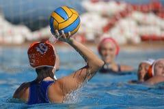 Waterpolo konkurrens CN Mataro VS Zaragoza Arkivfoto