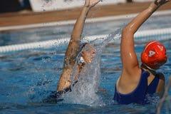 Waterpolo konkurrens CN Mataro VS Zaragoza Royaltyfria Bilder