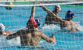 WATERPOLO MATCH - MATARO vs ATL. BARCELONETA Stock Image
