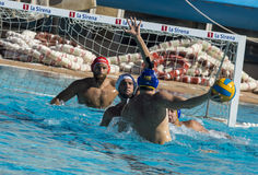 WATERPOLO MATCH - MATARO vs ATL. BARCELONETA Royalty Free Stock Images