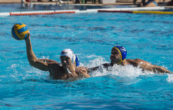WATERPOLO MATCH - MATARO vs ATL. BARCELONETA Royalty Free Stock Photo