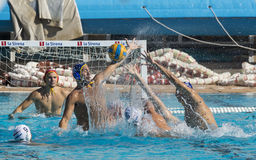 WATERPOLO MATCH - MATARO vs ATL. BARCELONETA Royalty Free Stock Photos