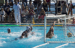 WATERPOLO MATCH - MATARO vs ATL. BARCELONETA Stock Photography