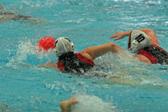 Waterpolo Spiel stockfoto