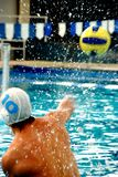 Waterpolo sportman Photographie stock libre de droits