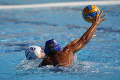 Waterpolo-Wettbewerb KN Mataro GEGEN Barceloneta Mataro Stockfoto