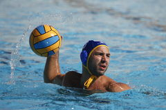 Waterpolo-Wettbewerb KN Mataro GEGEN Barceloneta Mataro Lizenzfreies Stockbild