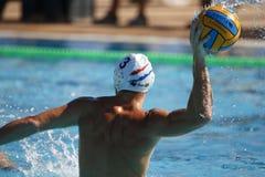 Waterpolo-Wettbewerb KN Mataro GEGEN Barceloneta Mataro Lizenzfreie Stockfotos
