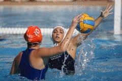 Waterpolo-Wettbewerb KN Mataro GEGEN Saragossa Lizenzfreies Stockfoto