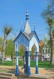 Waterpomp, Friedrichstadt, Treene, Duitsland Stock Fotografie