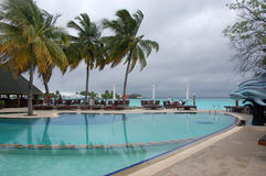 Waterpool at Thulhagiri Island Resort Stock Image