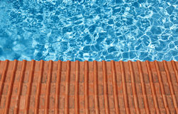 Waterpool and tiles Stock Photos