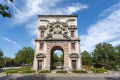 Waterpoort Arch in Antwerp, Belgium stock images
