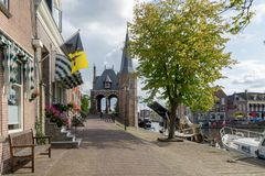 Waterpoort Water gate at the Waterpoortsgracht royalty free stock photography