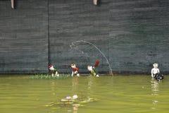 Waterpoppenspel in Hanoi Vietnam Stock Foto's