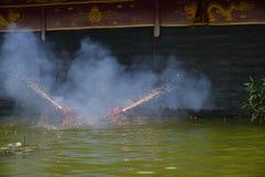 Waterpoppenspel in Hanoi Vietnam Royalty-vrije Stock Afbeeldingen