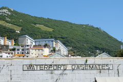 Waterport Casemates Wall - Gibraltar. Waterport Casemates Wall in Gibraltar Royalty Free Stock Image