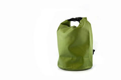 Waterproof bag isolated on white Royalty Free Stock Photo
