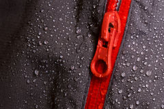 Waterproof fabric and zipper for outdoors Royalty Free Stock Photography