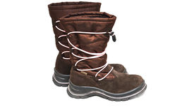 Waterproof girl boots Royalty Free Stock Photo