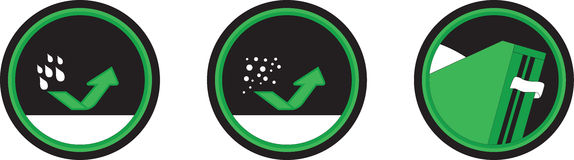 Waterproof icons Royalty Free Stock Images