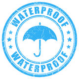 Waterproof ink rubber stamp Royalty Free Stock Images