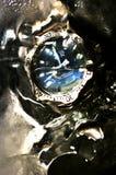 Waterproof o relógio imagens de stock