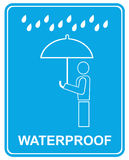 Waterproof - sign Royalty Free Stock Photos