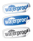 Waterproof stickers. Stock Photos