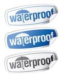 Waterproof stickers. Stock Photos