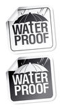 Waterproof stickers. Stock Photo