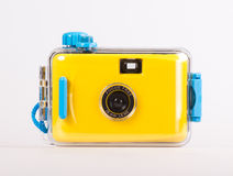 Waterproof underwater camera. On white background Royalty Free Stock Photo
