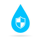 Waterproof vector icon Stock Images
