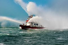 Waterproof Waterproof. Waterproof fire-fighting water of the sea Stock Images