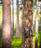 Waterproof Wildlife trail Camera. Trail Camera Animal Camera Waterproof Wildlife Camera With Lamp Infrared, Screen And Wide Angle 120° - Infrared Night Vision royalty free stock images