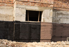 Waterproofing basement and foundations Stock Image