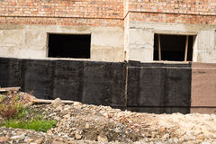Waterproofing basement and foundations Stock Images