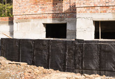 Waterproofing basement and foundations Royalty Free Stock Image