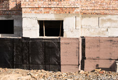 Waterproofing basement and foundations Royalty Free Stock Photos
