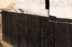 Waterproofing basement and foundations Royalty Free Stock Photography